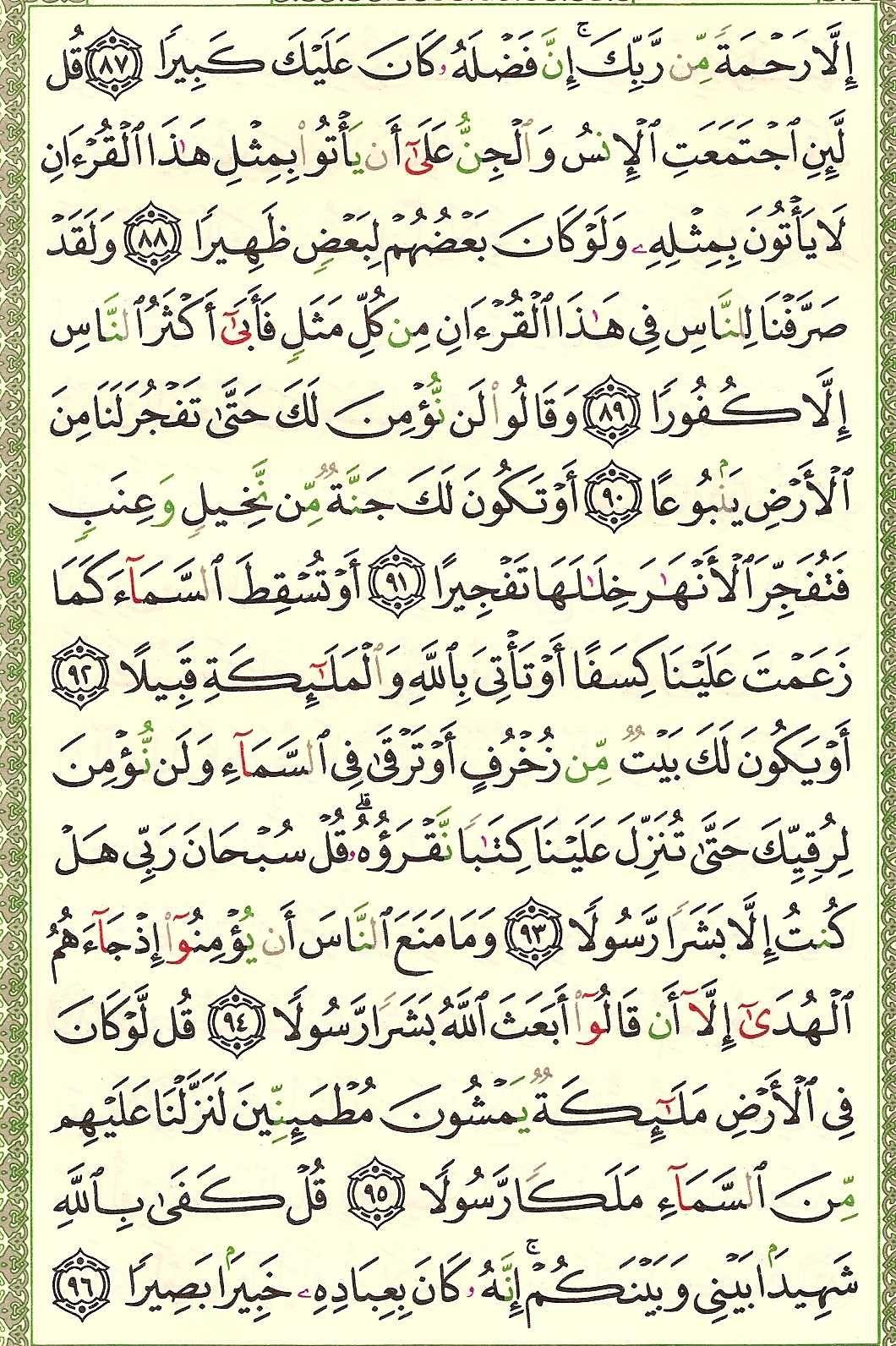 سلسلة دراسات قرآنية - سورة الاسراء - التوحيد والتقدم
