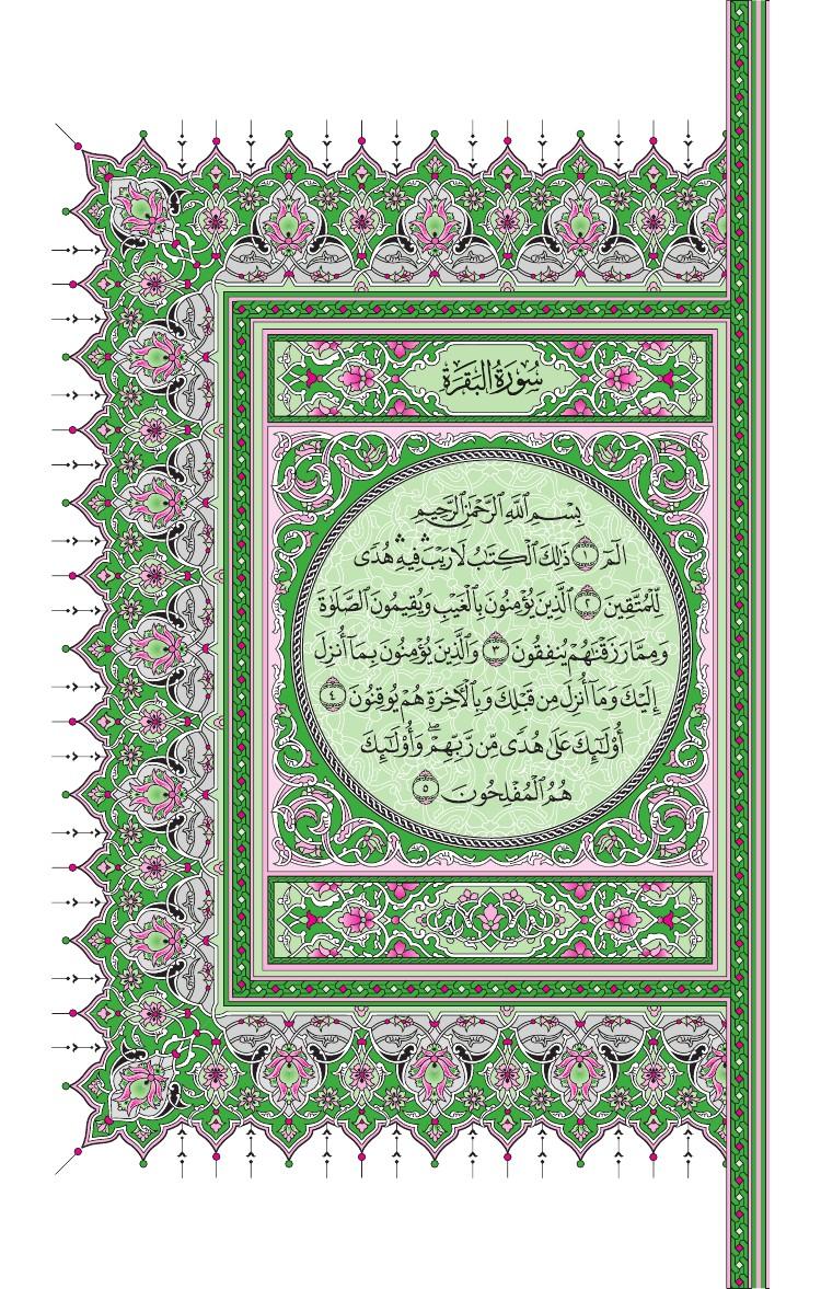 2. سورة البقرة - Al-Baqara مصورة من المصحف الشريف 0005