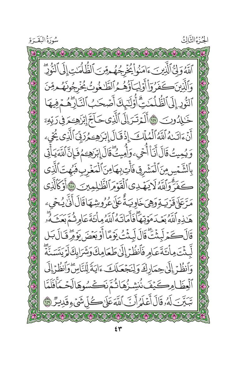2. سورة البقرة - Al-Baqara مصورة من المصحف الشريف 0046