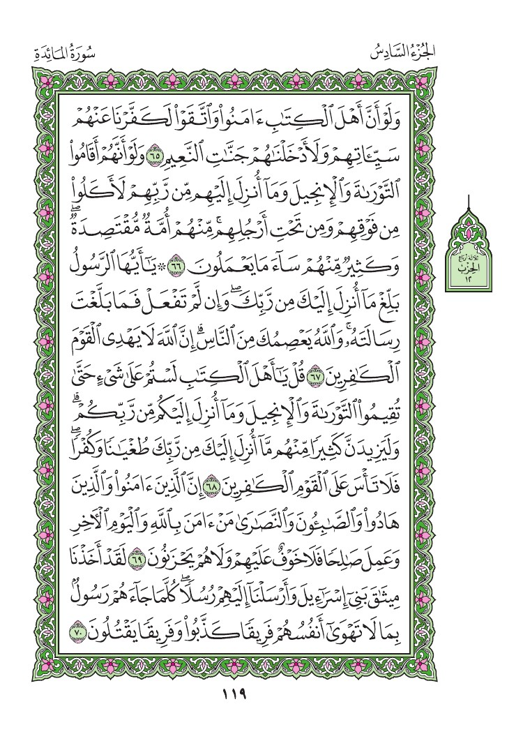 5. سورة المائدة - Al-Maida مصورة من المصحف الشريف 0122