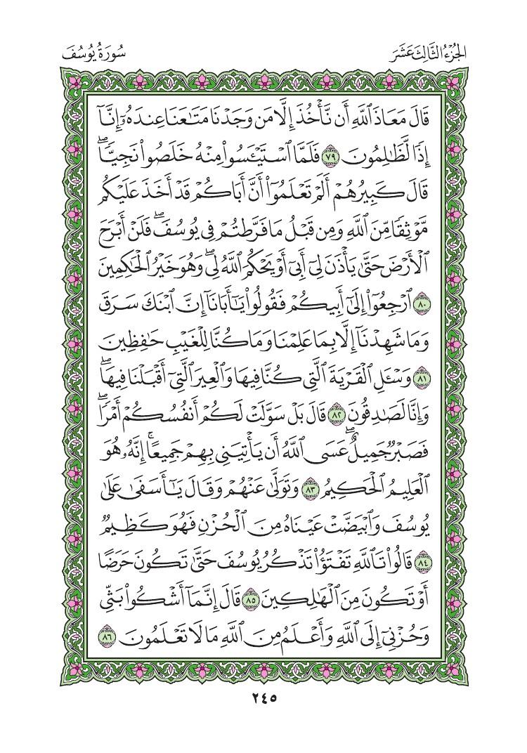 12. سورة يوسف - Yusuf مصورة من المصحف الشريف 0248