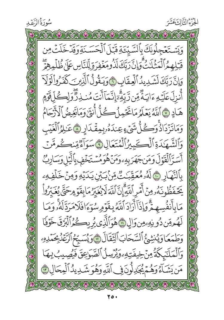 13. سورة الرعد - Al- Rad مصورة من المصحف الشريف 0253