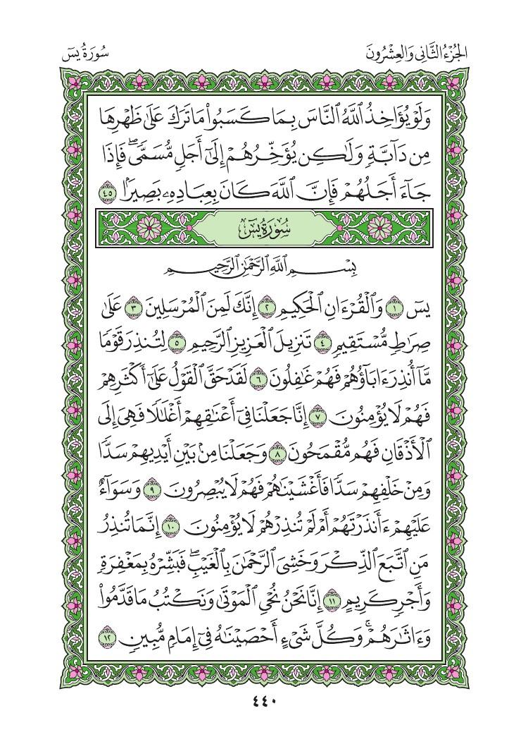 35. سورة فاطر - Fatir مصورة من المصحف الشريف 0443