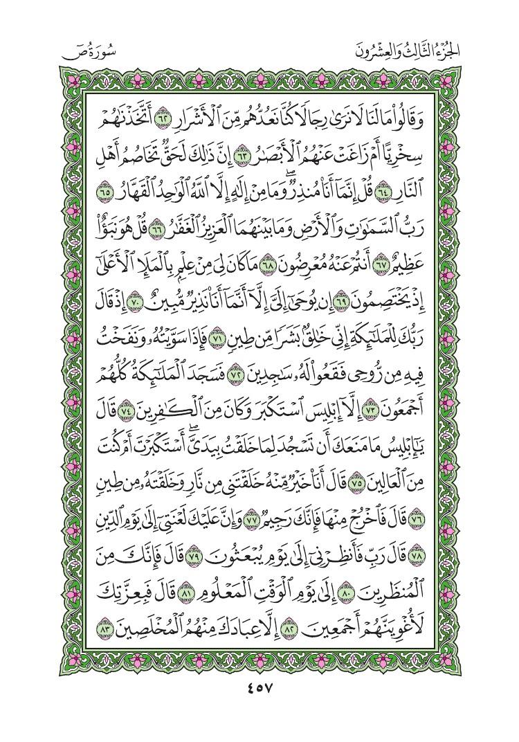 38. سورة ص - Sad مصورة من المصحف الشريف 0460