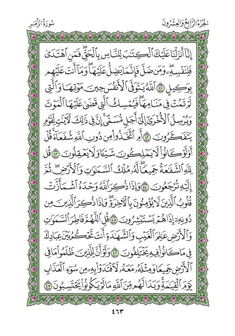 39. سورة الزمر - Al Zumar مصورة من المصحف الشريف 0466