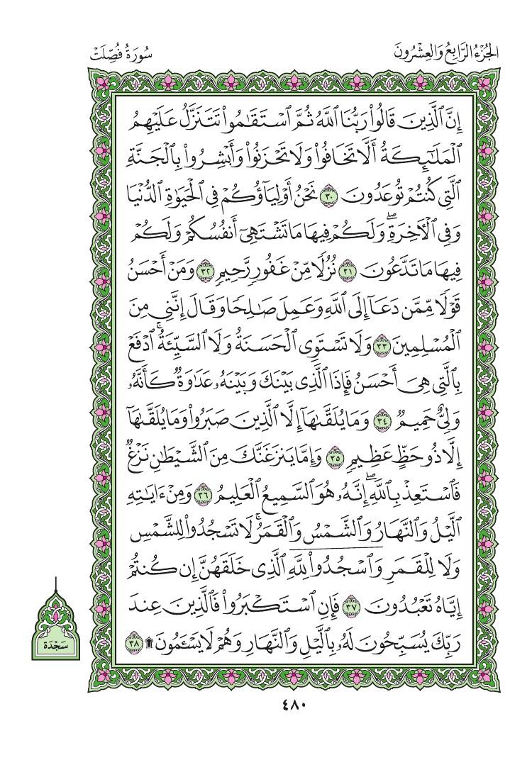 41. سورة فصلت - Fussilat مصورة من المصحف الشريف 0483