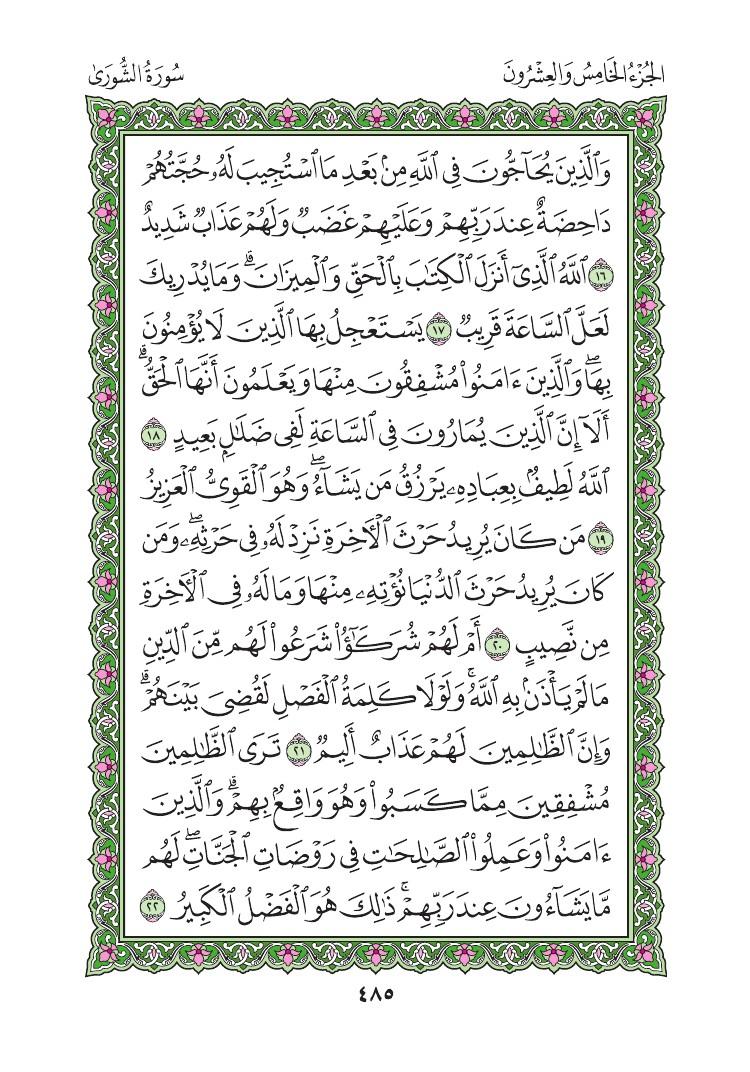 42. سورة الشورى - Al-Shura مصورة من المصحف الشريف 0488