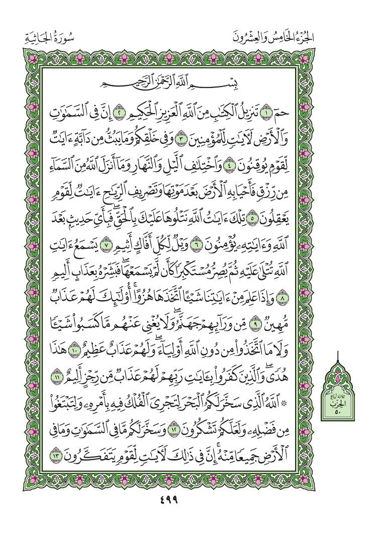 45. سورة الجاثية - Al-Jathiya مصورة من المصحف الشريف 0502