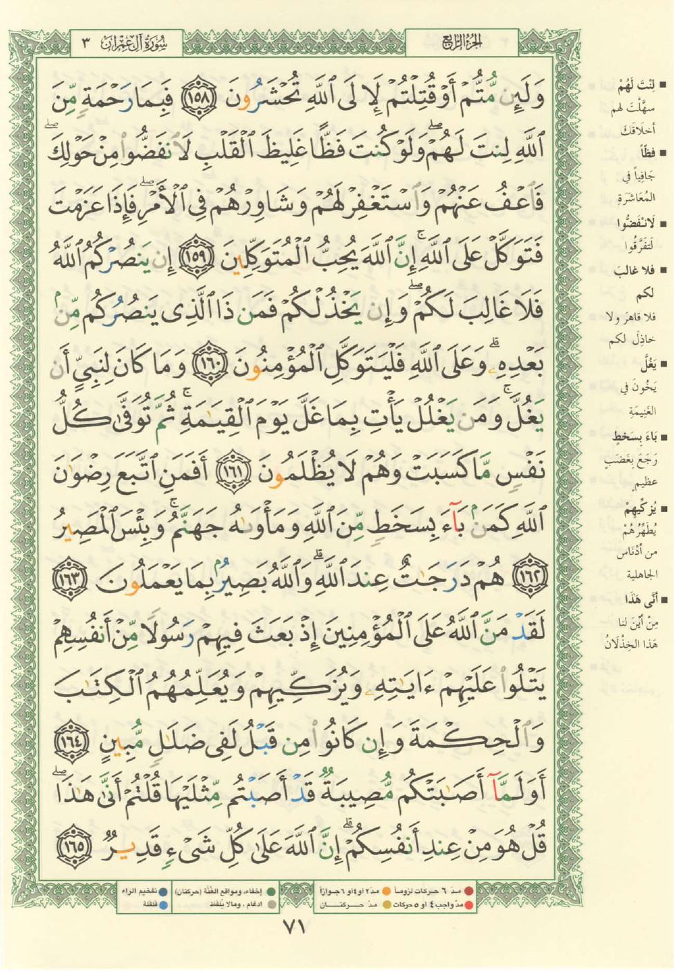3. سورة آل عمران - Al-Imran مصورة من المصحف الشريف Quran_tajwid_000080