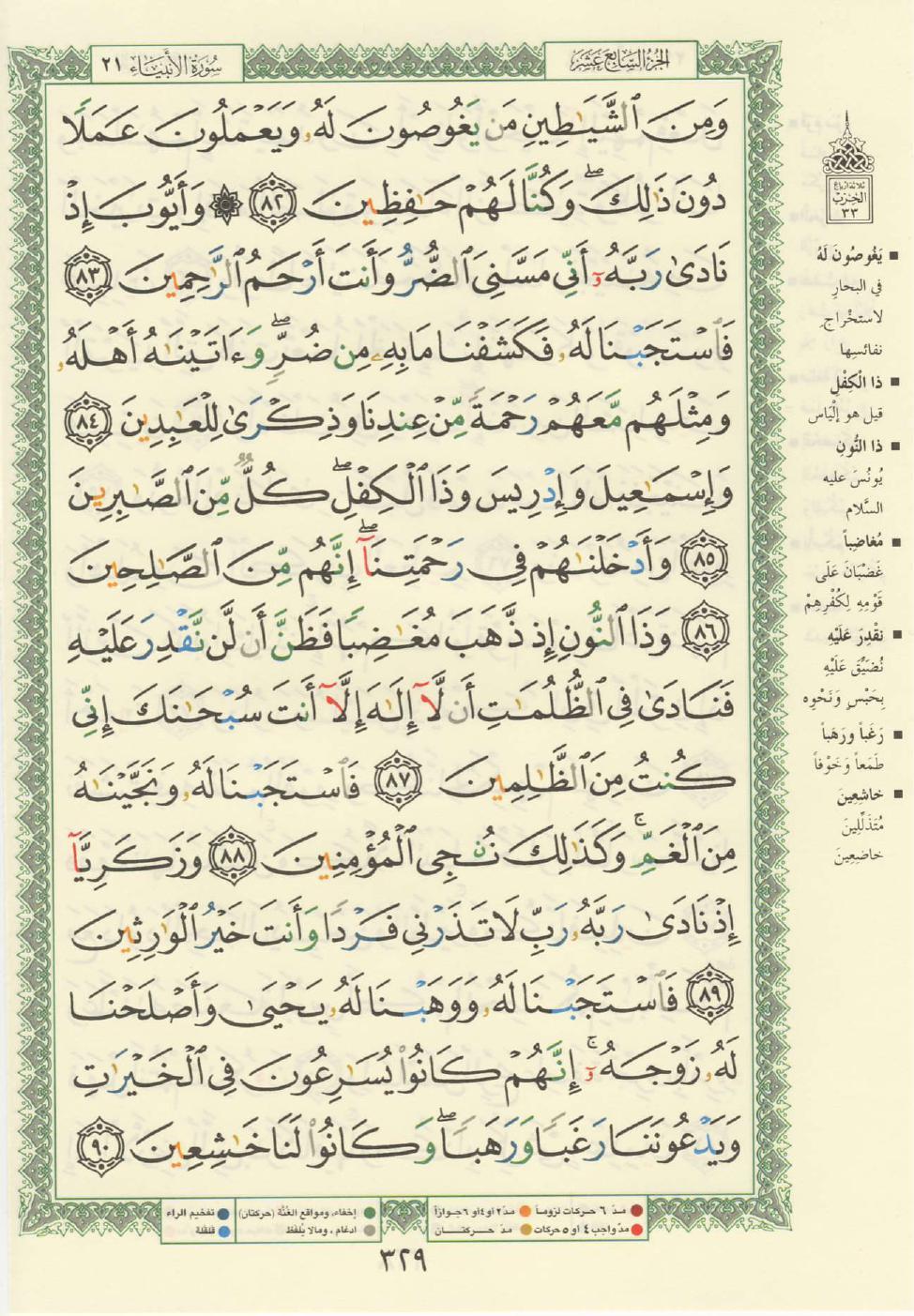 21. سورة الانبياء - Al- Anbiya مصورة من المصحف الشريف Quran_tajwid_000338